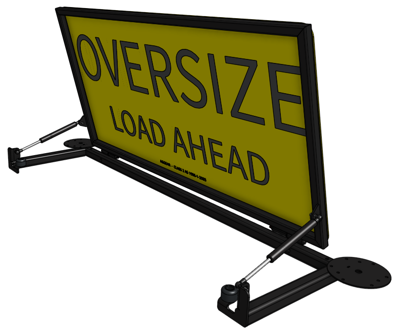 Oversize Load Ahead Black